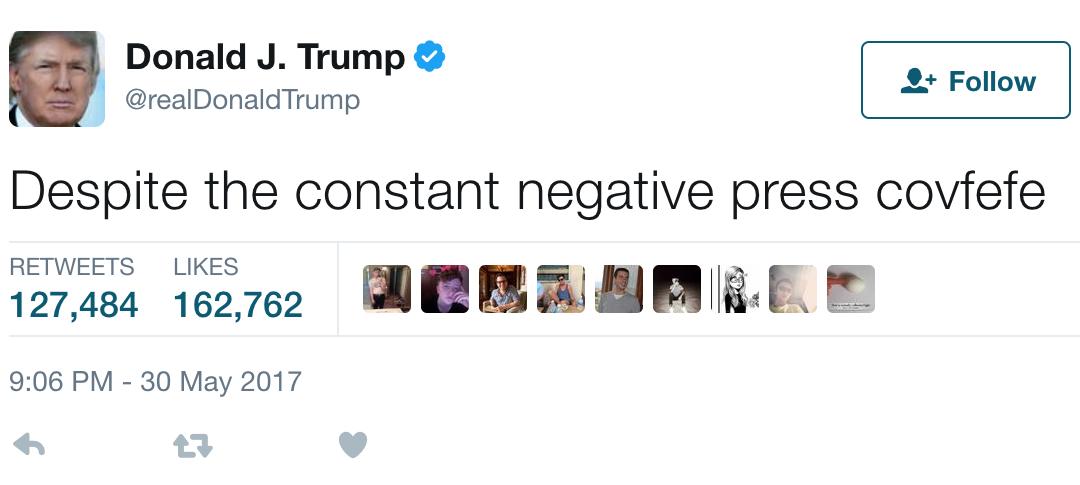 covfefe definition trump